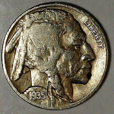 "1935-P 5C Buffalo Nickel 18ht2503a Only 50 Cents for Shipping""*a"