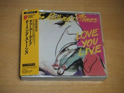 THE ROLLING STONES - Love You Live - JAPAN 2CD W/OBI 40DP-5575/6