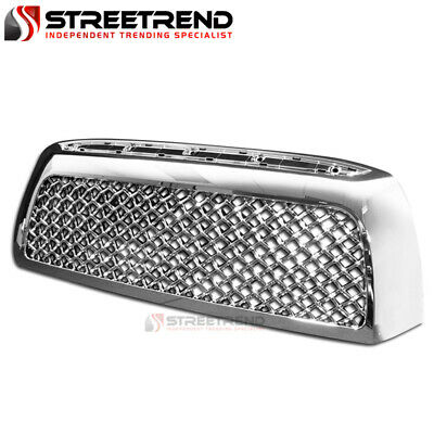 For 07-09 Toyota Tundra Chrome Mesh Front Hood Bumper Grill Grille Guard ABS