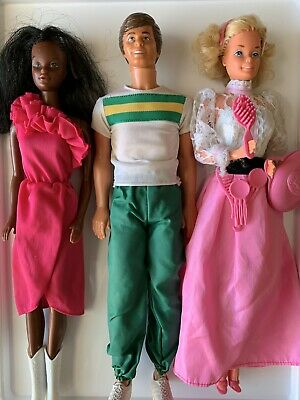 Barbie And Ken Dolls Vintage 1980's X 3 Dolls