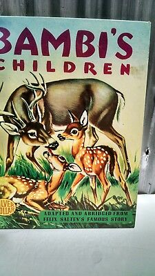 Vintage Bambi's Children Hardcover Book 1951 Bright Colors Good Condition