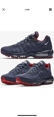 91ab7a75faa NIKE AIR MAX 95 ESSENTIAL WHT BLUE RED MEN s SHOES 90 97 1 plus ...