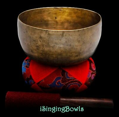 "Antique Heart chakra Singing Bowl Thado 6 7/8"", ca. 18th Century, F3 & B4. Mp3"