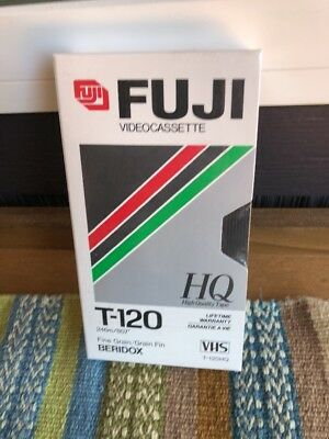 LOT OF 4 TAPES New SEALED Fuji VHS Tapes High Quality HQ T 120 Blank 6 Hrs