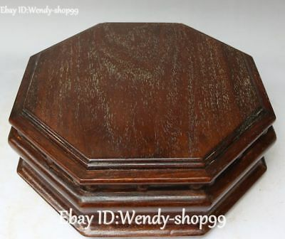 """13"""" Rare China Rosewood Wood Ancient Pastry Box Case Boxes Dessert Snack Casket"""