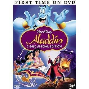 Disney Aladdin (DVD, 2004, 2-Disc Set, Special Platinum Edition) Free Shipping