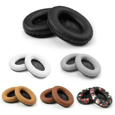 1 Pair Replacement L/R Leather Ear Pads Cushion for Bose QC25 Headphones
