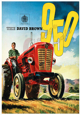 David Brown 950 Tractor - Advertising Poster (A3) - (3 for 2 offer)