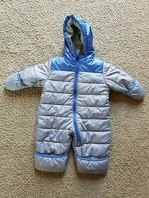 0babcfb4c Baby Boy's Carters Gray Blue Colorblock Bunting Snowsuit Size 3-6 Months