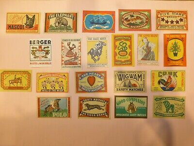 25 Matchbox Labels- Italy, New Guinea 1970's