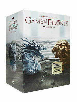 Game Of Thrones :complete Seasons  1-7 Box Set Brand New Dvd 34 Disc Set