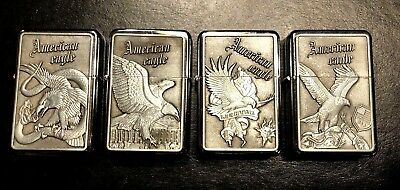 American Eagle Limited Edition 4 Lighter Collectors Set - Raised Emblem New