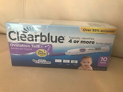 Clearblue Advanced Digital Ovulation Test With Dual Hormone Indicator 10 Test