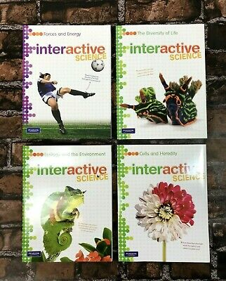 LOT OF 7 Pearson Interactive Science Middle School Worktexts