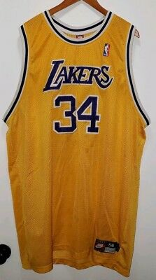9f46646a51b7 SHAQUILLE O NEAL Los Angeles Lakers Shaq Jersey Nike Authentic Yellow 56 3XL