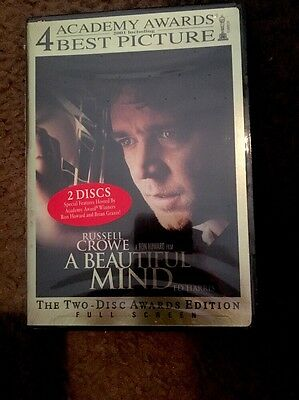 A Beautiful Mind DVD (Two-Disc Award Edition) Russell Crowe Brand New!