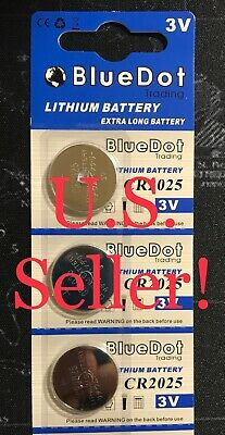 CR2025 Lithium Batteries (3) - NEW Pack of THREE - 3V Coin Cell Batteries NEW!!!