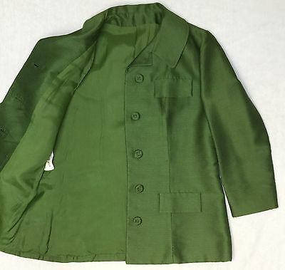 Vintage Late 1950s early 60s JeKar Green Suit Jacket Size Large/XL