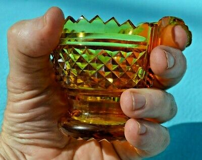 Unusual Antique Cut Glass Wine Spitting Cup