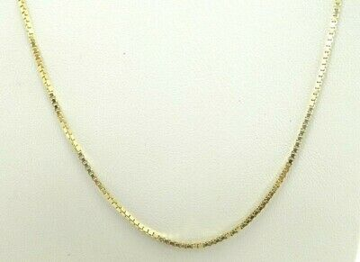 14K Yellow Gold Dia Cut Beaded Station Snake Chain Necklace 16.5 Inch D3532