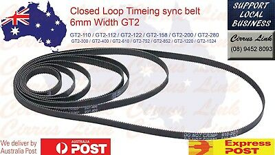3D Printer Upgrade Parts Closed Loop 6mm Width GT2 Timing sync Belt Round