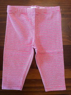 Country Road pink stripe leggings, size 0000, like new!