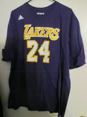 0cdff691a4d Kobe Bryant Adidas T-Shirt  24 Los Angeles Lakers 2Xl Purple Free Shipping