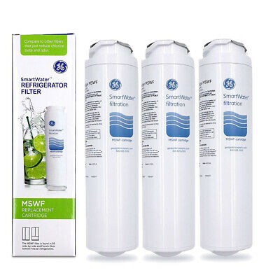 3-Pack Genuine GE MSWF SmartWater Replacement Water Filter Cartridge New Sealed