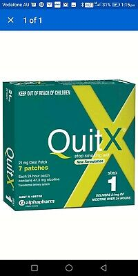 QuitX Patches Step 1 21MG 7 Stop Smoking Aids