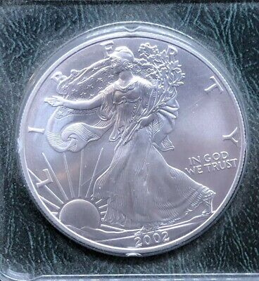 2002 Uncirculated .999 Silver American Eagle Coin