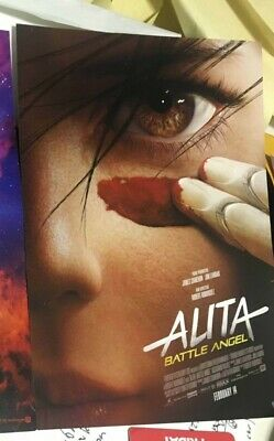 ALITA Battle Angel movie poster / postcard Anime NYCC 2018 FREE SHIP + BONUS