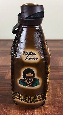 Glass Quart Bottle Wrapped In Puerto Rico designed Leather-Hector LaVoe.