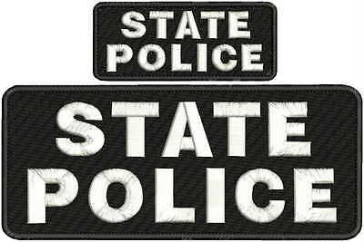 """POLICE HSI embroidery patches 4x10/"""" and 2x5 hook on back white letters"""