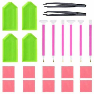 DIY Diamond Painting Tool Kits, ABS + Silicone Materials Including Tweezer D8G2