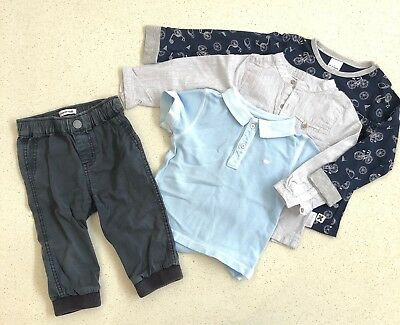 COUNTRY ROAD & TARGET Bundle Size 1 (12-18Mth) Navy, Blue, Grey and Bike Print