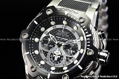 Invicta Mens 52mm Limited Edition Marvel Punisher Bolt Chrono Black Silver Watch