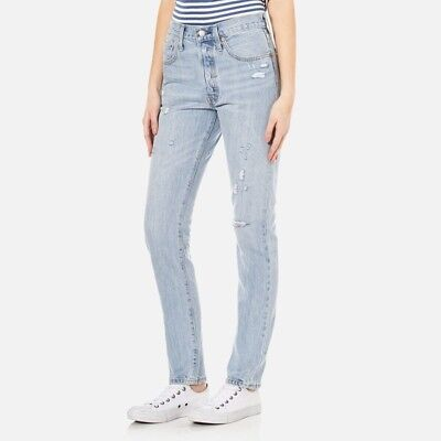 38c9f636 WOMENS LEVI'S 501 Skinny Altered Jeans In Moody Blues 28x28 - $62.67 ...