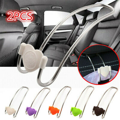 2pcs Car Seat Headrest Hanger Hook Stainless Steel Hook Bag Purse Holder
