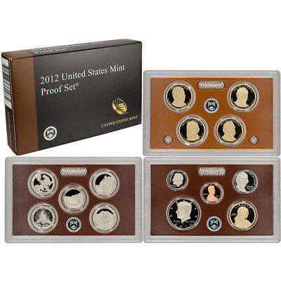 2012 S US Mint Proof Set 14 pc COA