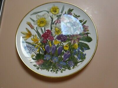 Franklin Porcelain .Flowers of the Year Plate collection.The Flowers of MARCH.