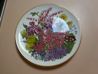 Franklin Porcelain .Flowers of the Year Plate collection.The Flowers of MAY.