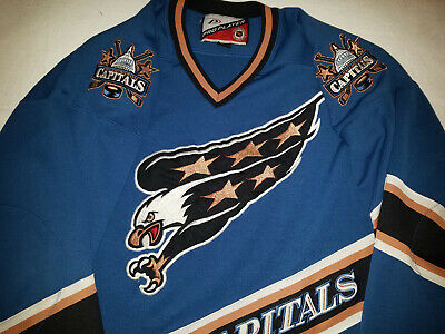 los angeles f21a8 29a80 WASHINGTON CAPITALS JERSEY Mens xxl 2XL 2X Large Blue PRO player screaming  eagle