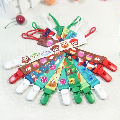 1 Piece Cartoon Soft Baby Pacifier Clip Soother Chain Nipple Strap Infant