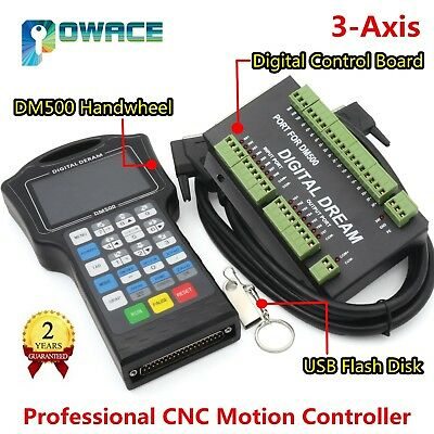 3Axis DM500 DSP CNC Hand Control Motion Controller System G Code for CNC Machine
