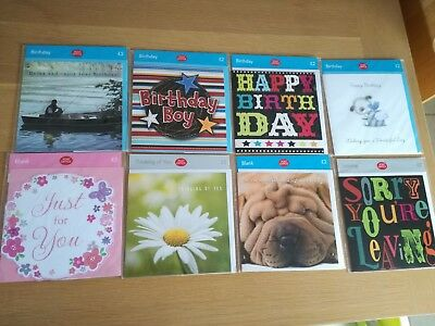Greeting cards bundle - set of 8 - birthday, blank, thinking of you - new
