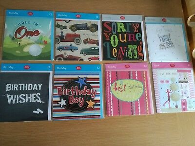 Greeting cards bundle - set of 8 - birthday, blank, leaving, get well - new