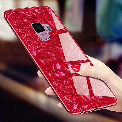 For Samsung S10 S9 Plus Note 9 Case Luxury Tempered Glass Back Shockproof Cover