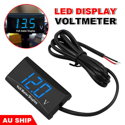 Battery Monitor DC 12 v LED Digital VoltMeter Gauge Voltage Marine Caravan Cars