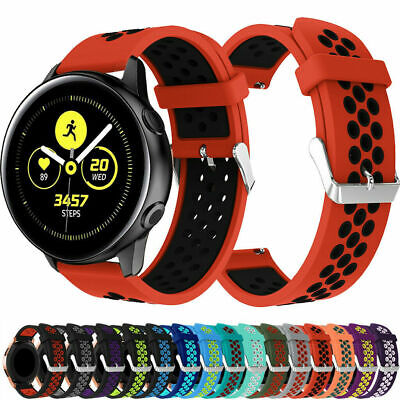 20MM Sports Silicone Strap Wrist Bracelet Band For Samsung Galaxy Watch Active