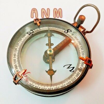 Marine Brass Compass Spencer & Co Nautical Vintage Collectible